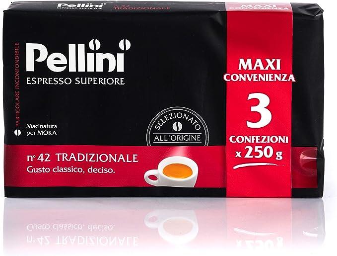Pellini Caffè, Café Molido para Máquina Moka Gusto Tradizionale No ...