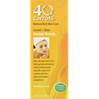 40 Carrots Carrot Aloe Facial Scrub - Improve Skin Tone, Texture, and Clarity, for...