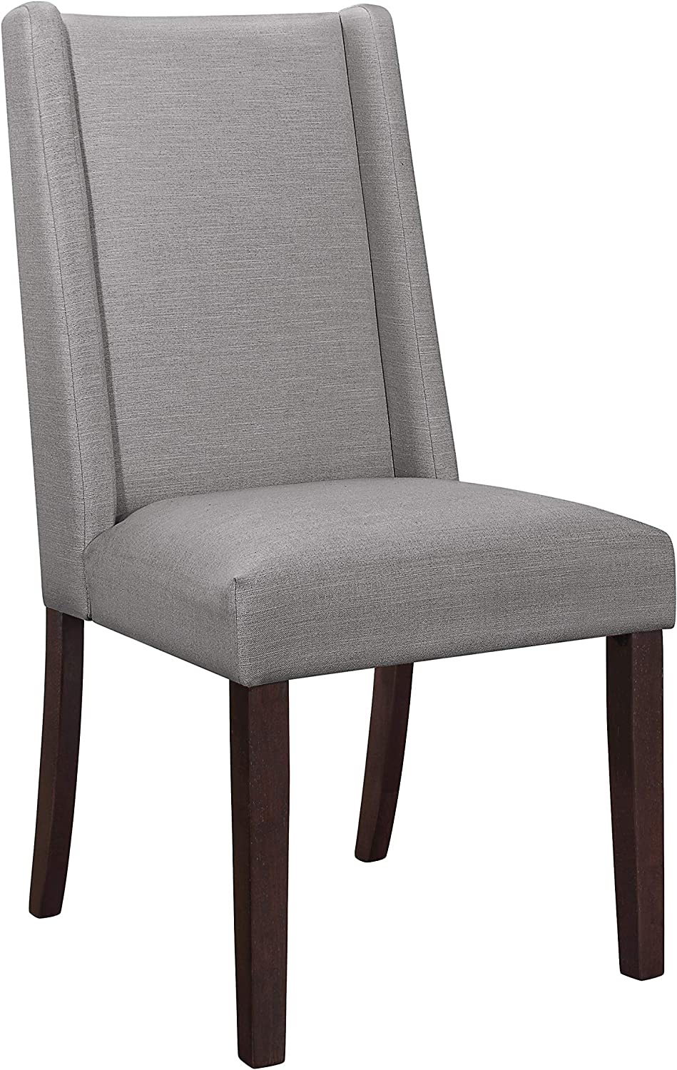 "Coaster Home Furnishings Searcy Upholstered Parson Light Grey (Set of 2) Dining Chair, 20"" D x 25"" W x 40"" H, Gray"
