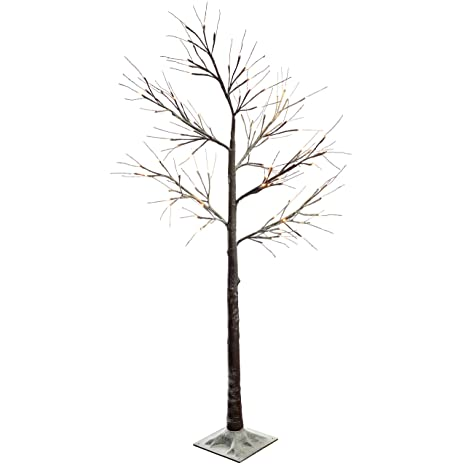 Werchristmas Pre Lit Led Twig Tree With Snow Christmas Decoration 6