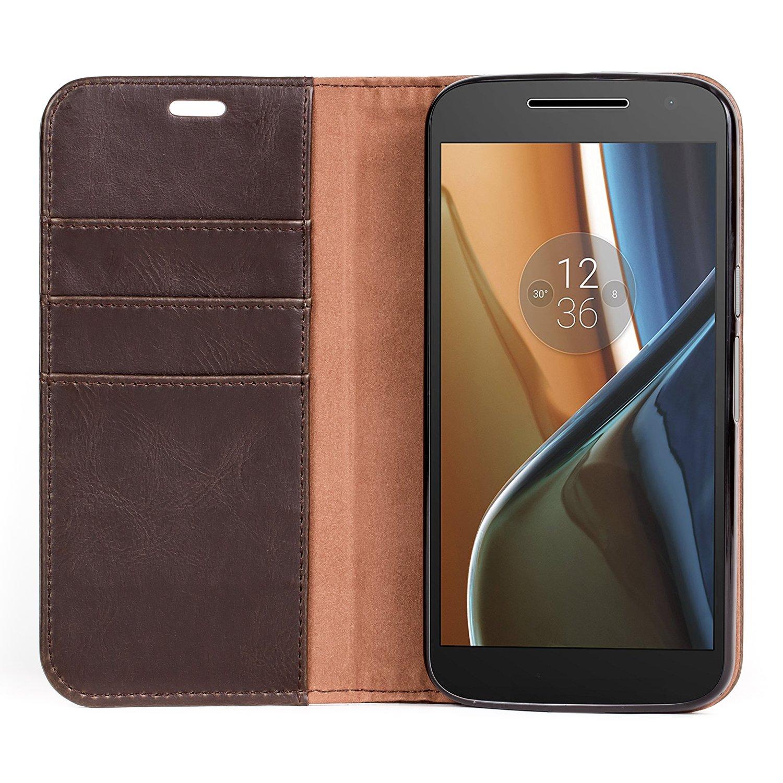 online retailer 8dda5 cff1c Amazon.com: Moto G (4th Generation) Case,Mulbess BookStyle Leather ...