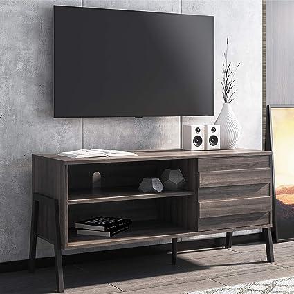 WAMPAT Mueble TV Salón Mesa para TV Moderno para televisores de 32-49 pulgadas Soporte TV con 1 Puertas 2 Compartimientos, perfecto para Salón, Oficina, Dormitorio: Amazon.es: Electrónica