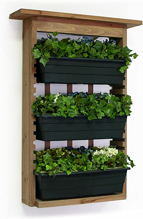 Algreen 34002 Garden View Vertical Living Wall Planter Garden Outdoor
