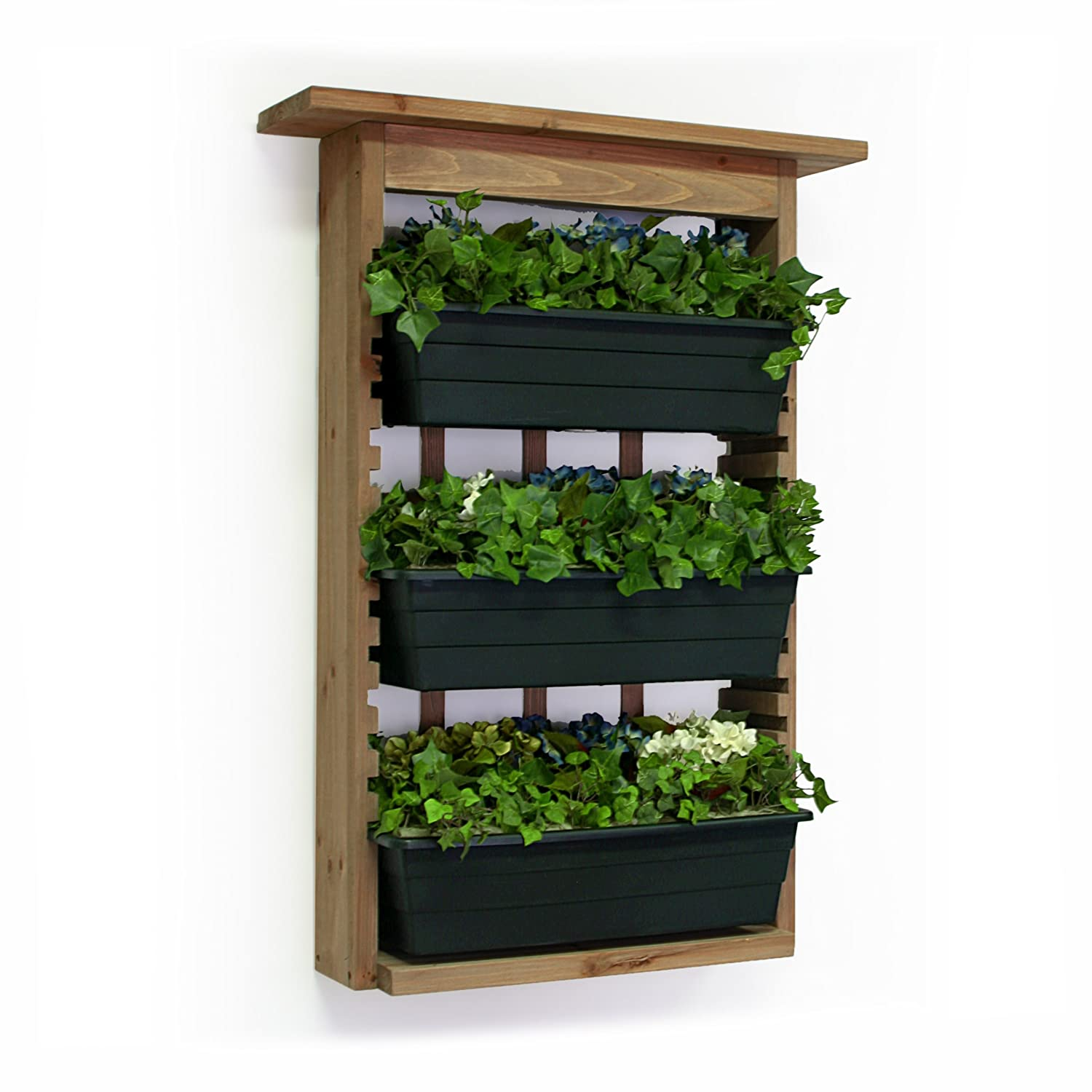 Amazon Com Algreen 34002 Garden View Vertical Living Wall Planter