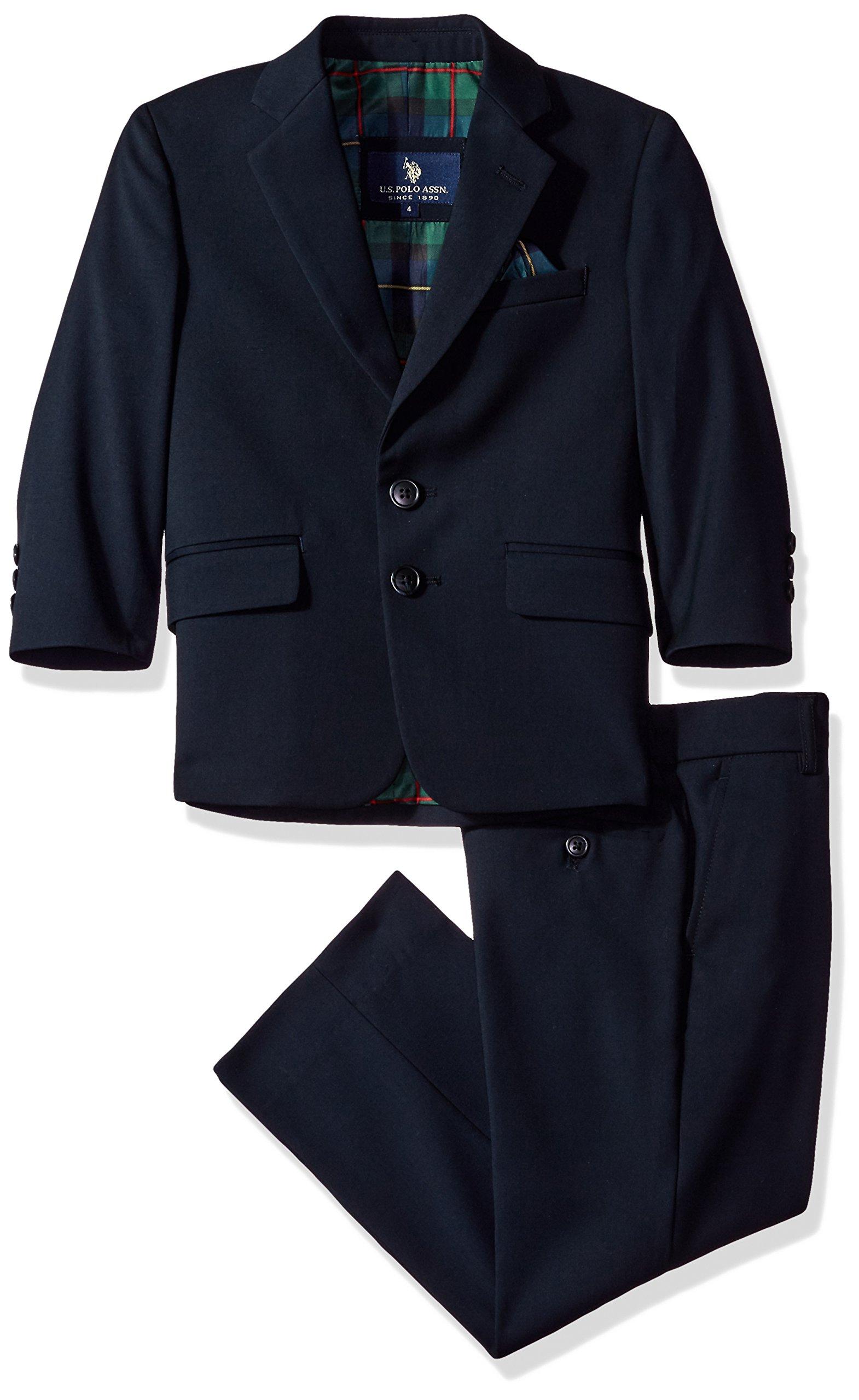 U.S. Polo Assn. Little Boys' Rayon Poly Suits, Navy, 5