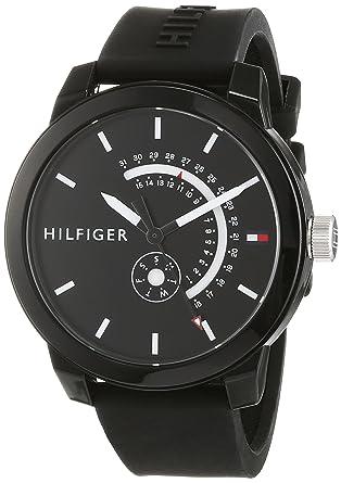 Tommy Hilfiger Reloj Analógico para Hombre de Cuarzo con Correa en Silicona 1791483: Amazon.es: Relojes