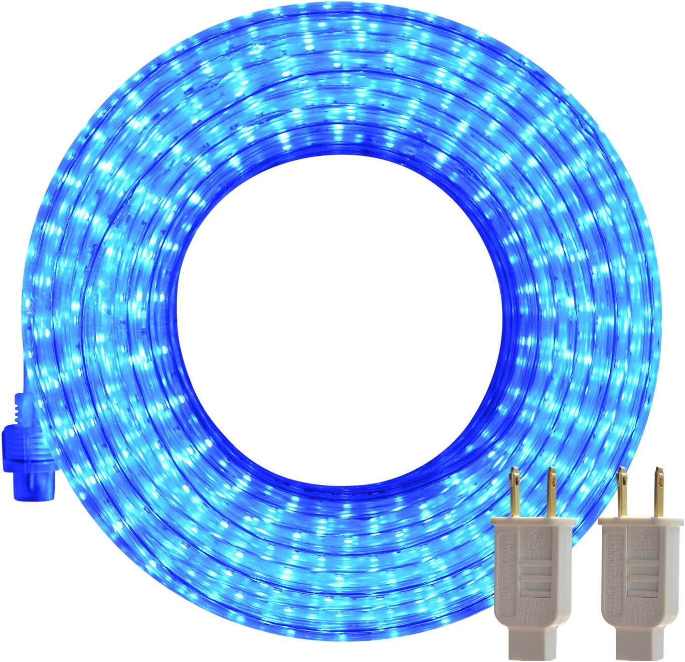 Amazon.com: LED Rope Lights Outdoor Blue 50ft Flexible Waterproof ... led strip lights Amazon.com