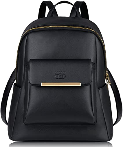 mieux aimé fe173 83e4e Leather Backpack,COOFIT Black Leather Backpack for Women Fashion Backpack  Purse(Synthetic Leather)