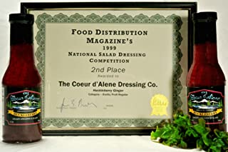product image for The Coeur d'Alene Dressing Company - Award Winning Huckleberry Ginger Dressing and Glaze - Two 12 Ounce Jars