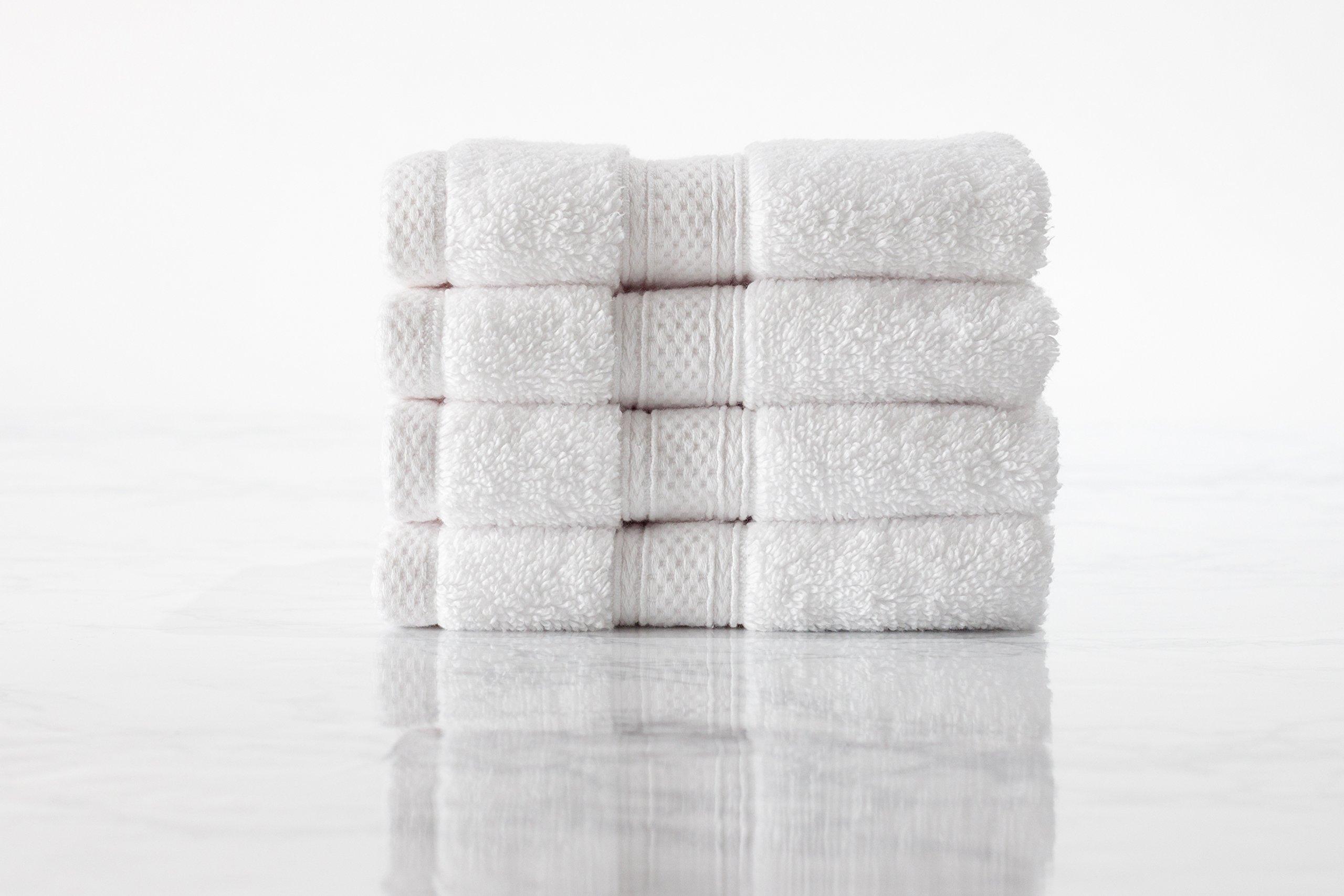 Standard Textile Hotel Luxury Lynova Wash Cloths (13'' x 13''), 100% Cotton, Set of 4