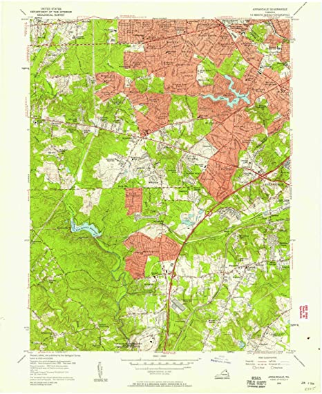 Amazon Com Yellowmaps Annandale Va Topo Map 1 24000 Scale 7 5 X