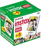Fujifilm Instax Mini Instant Film, 10 Sheets×5 Pack(Total 50 Shoots)