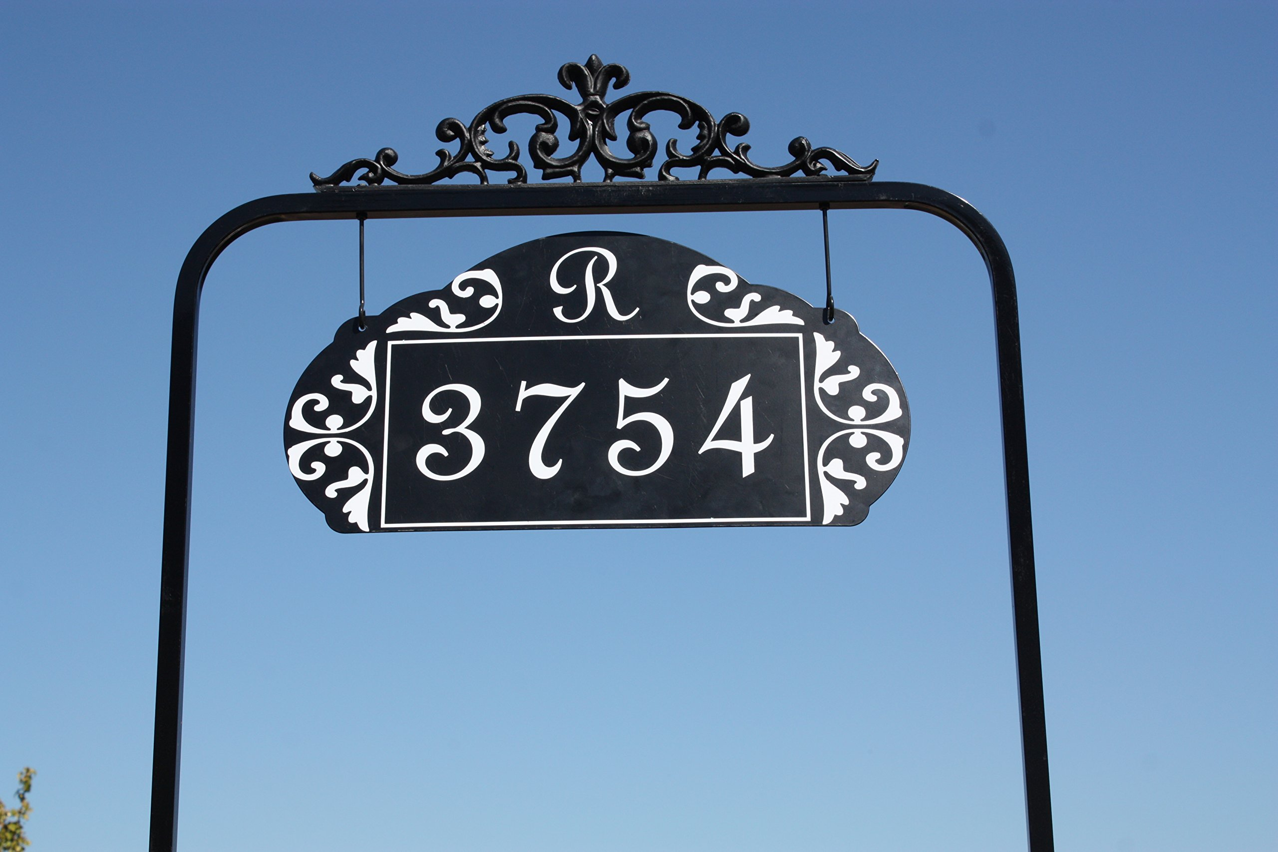 Le Paris Estate Reflective 911 Home Address Sign for Yard - Custom Made Address Plaque Exclusively By Address America