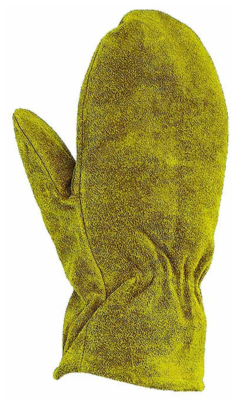 Ryno Leather Mitts - Split Leather Chopper Mittens (Extra Large, Leather)