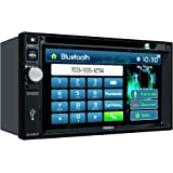 Jensen VX3022 6.2 inch LCD Multimedia Touch Screen Double Din Car Stereo with Built-In Bluetooth, CD/DVD Player & USB Port