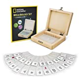 NATIONAL GEOGRAPHIC Mega Biology Set - Professional Grade Specimens, 25 Prepared Microscope Slides, Detailed Learning…