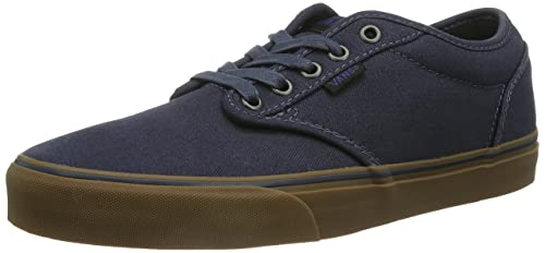 cc9dfcedc7 Image Unavailable. Image not available for. Colour  Vans Men s Atwood  Canvas Skate Shoe Navy Gum ...