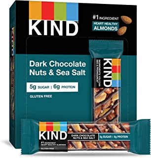 product image for KIND Bars, Dark Chocolate Nuts & Sea Salt, Gluten Free, Low Sugar, 1.4oz, 12 Count