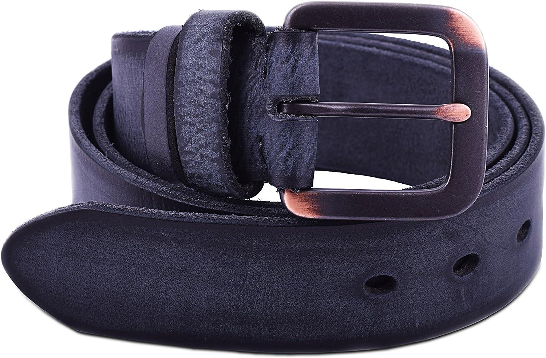 38mm Mens Retro Style Reversible Full Grain Leather Belt Viamto 1.5