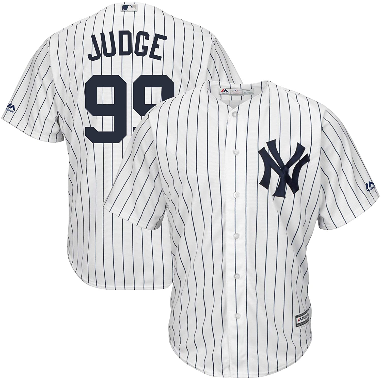 info for c4a80 5450f Outerstuff Aaron Judge New York Yankees MLB Majestic Toddler White Home  Cool Base Player Jersey