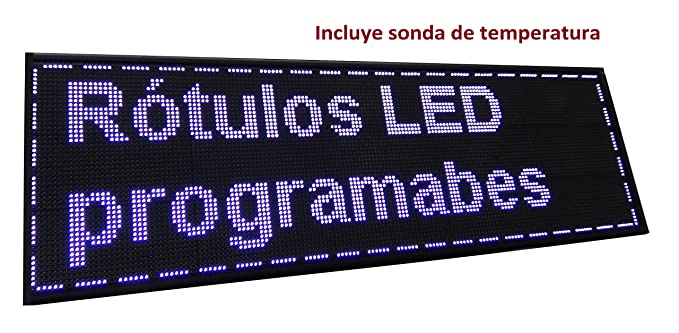 Cartel LED PROGRAMABLE (160x48 cm + Sonda Temperatura ...