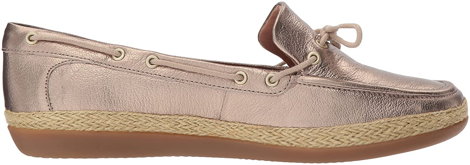 CLARKS Woherren Danelly Bodie Boat schuhe Gold Metallic Leather 10 10 10 Medium US 6a47e6