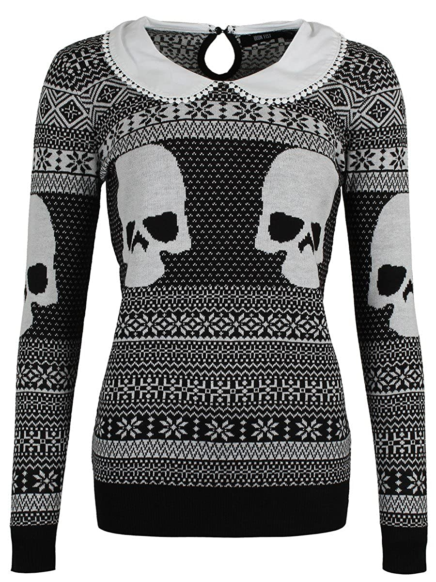 Iron Fist Women's Christmas Girly Sweater IFW004979-Black