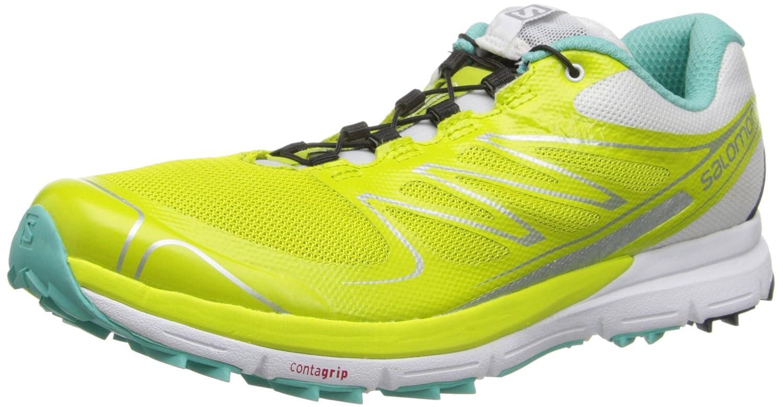 Salomon Women's Sense Pro Trail Running Shoes B00GHTIKKA 8 B(M) US|Gecko Green / White / Softy Blue