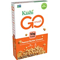 Kashi GO, Breakfast Cereal, Peanut Butter Crunch, Good Source of Protein and Fiber, 13.2oz Box