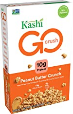 Kashi GO, Breakfast Cereal, Peanut Butter Crunch, Good Source of Protein