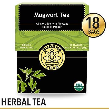 Organic Mugwort Tea, 18 Bleach-Free Tea Bags – Organic Tea Improves  Digestion, and Acts as an Emotional Relaxant, No GMOs