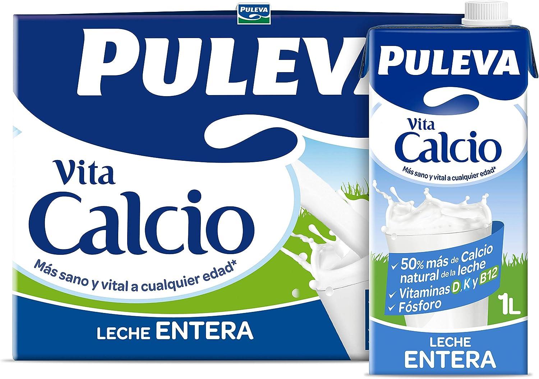 Puleva Calcio Leche Entera - Pack 6 x 1Lt: Amazon.es: Alimentación y bebidas
