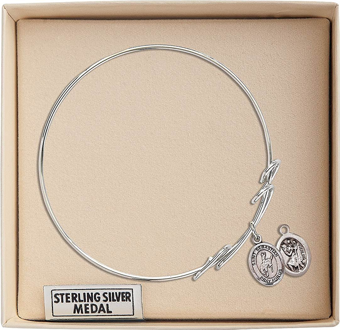 Sebastian Rodeo charm. 7 1//2 inch Round Double Loop Bangle Bracelet with a St