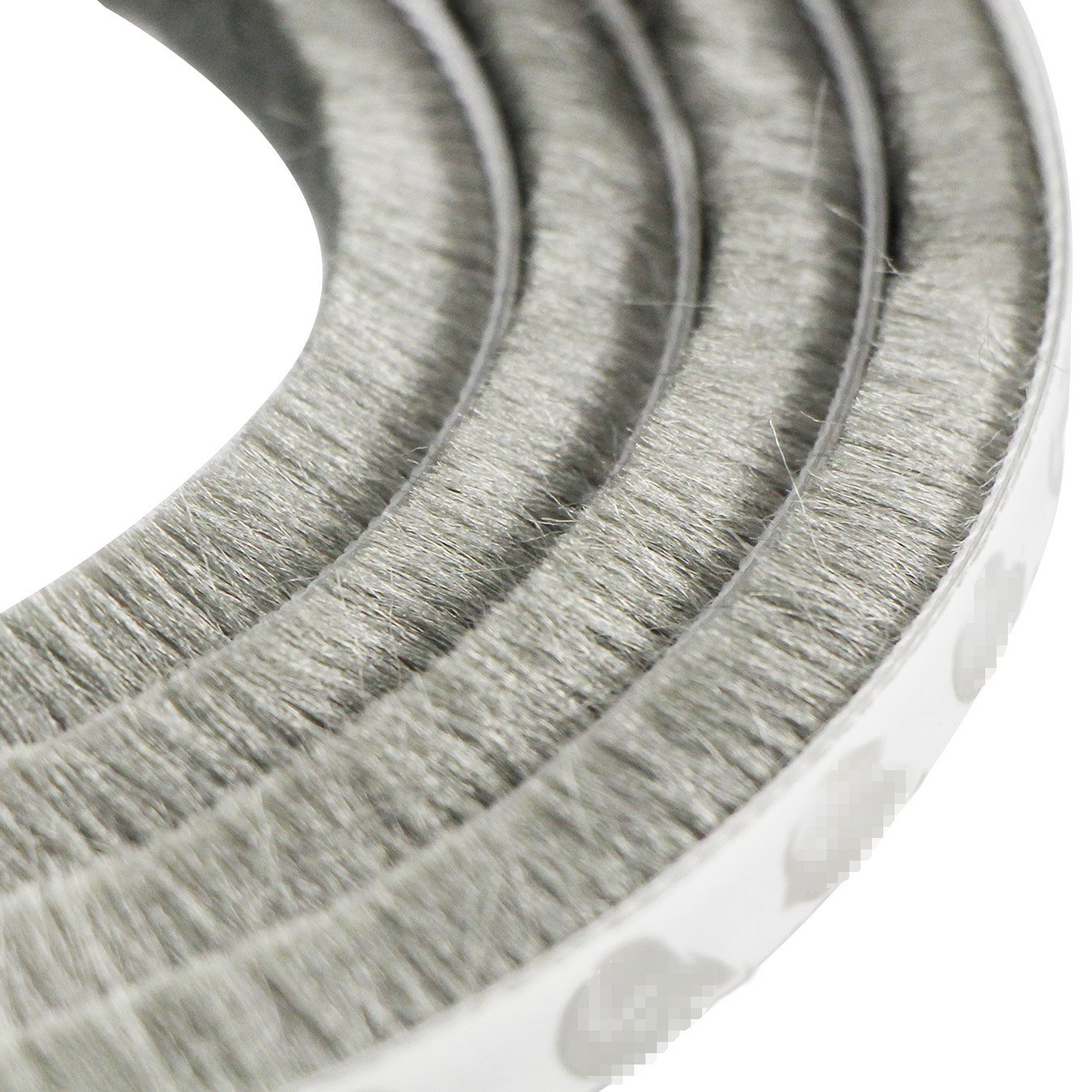 for gaps 7.5-13 mm Pile Height: 15mm UOOOM 10 m a Prueba de Viento de Polvo Puerta Ventana Strip Pegatina de Sellado Cepillo Strip , Marr/ón