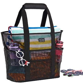 Amazon.com: Frank Mully - Bolsa de malla para la playa, con ...