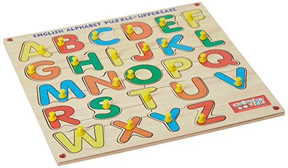 Zitto Premium Wooden Capital Alphabets A to Z Educational Puzzle Toy