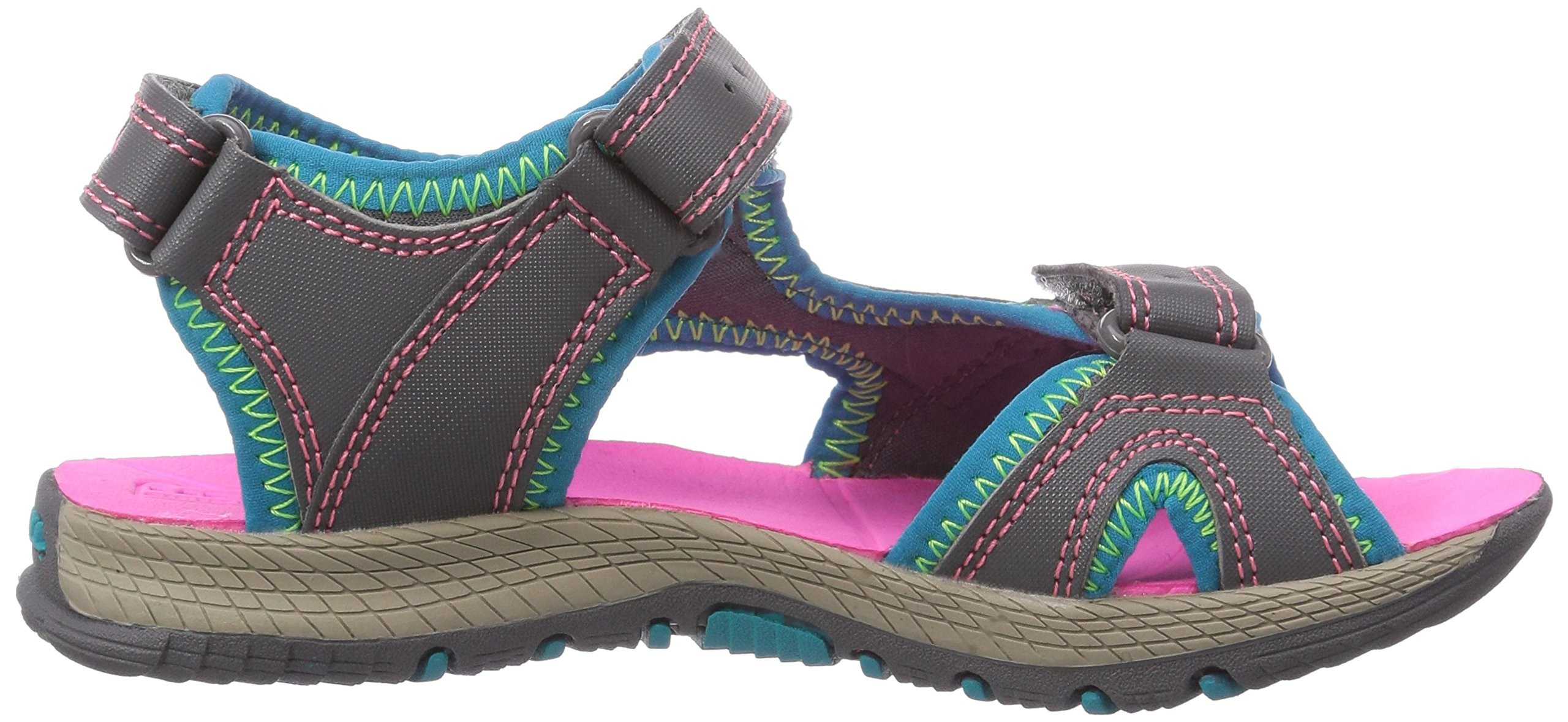 Merrell Panther Athletic Water Sandal , Blue/Pink/Green, 11 M US Little Kid by Merrell (Image #6)