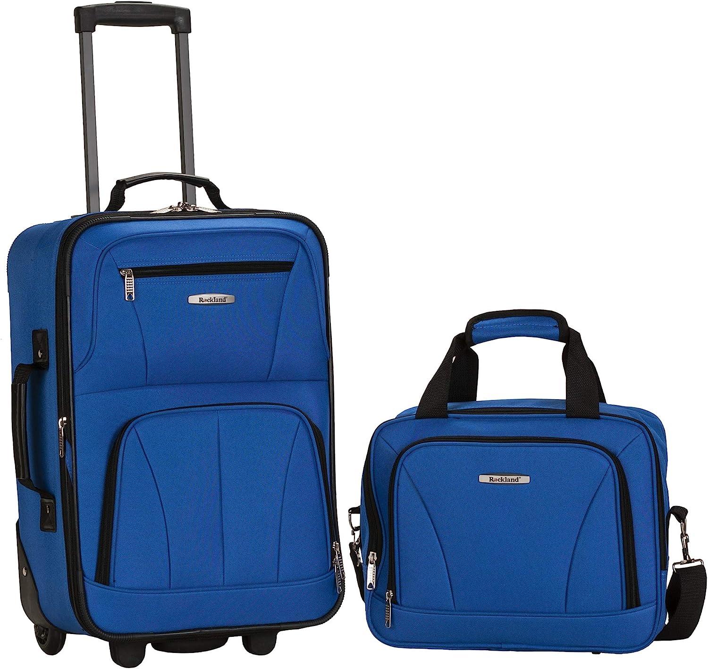 Rockland Fashion Softside Upright Luggage Set, Blue
