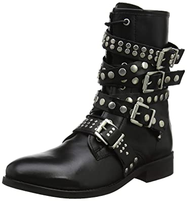 Buffalo Damen Winter Sky Leather ANILINA Stiefeletten, Schwarz (Black 01  00), 36 beeccf1638