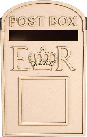 Boda Buzón de correos, Royal Mail estilo, paquete plano, sin pintar MDF para tarjetas etc por lasersmith: Amazon.es: Hogar