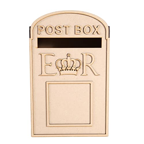 wedding post box royal mail styled flat pack unpainted mdf for cards etc