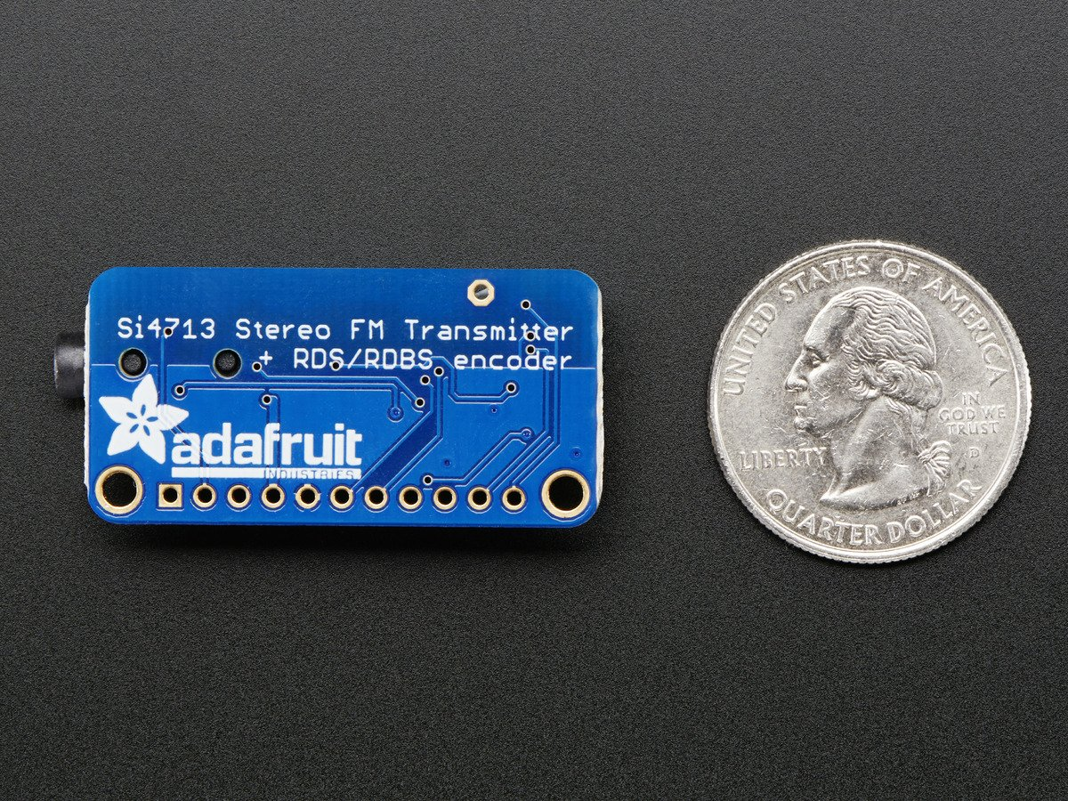 Adafruit Stereo Fm Transmitter With Rds/rbds Breakout - Si4