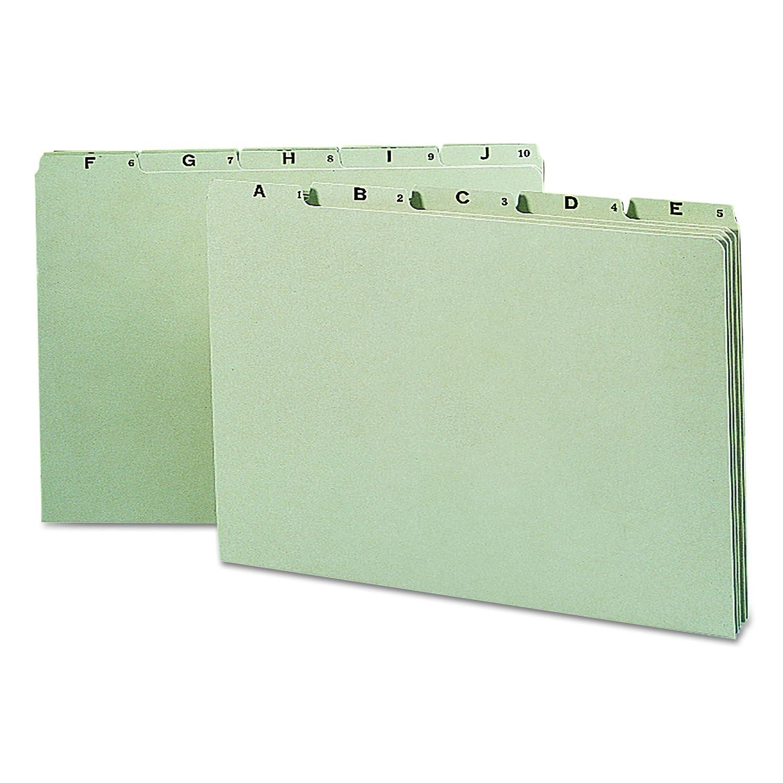 Smead Alphabetic Guides, 1/5-Cut Tab, Heavy Manila, Legal Size, 25 per Set (52176)