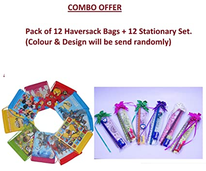 Royals Birthday Return Gifts For Kids Haversack Bags Stationary Set Combo