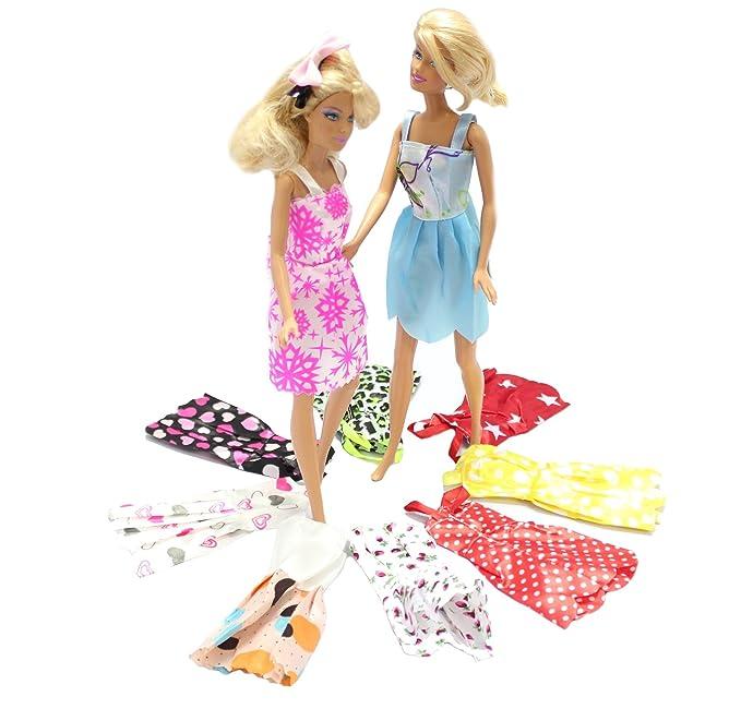 Amazon.es: 10 X Vestidos Pretty Doll para muñeca. Barbie compatible ...
