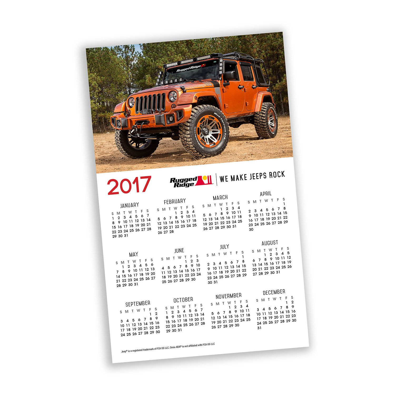 Omix-Ada 11595.41 Magnetic Rugged Ridge Calendar