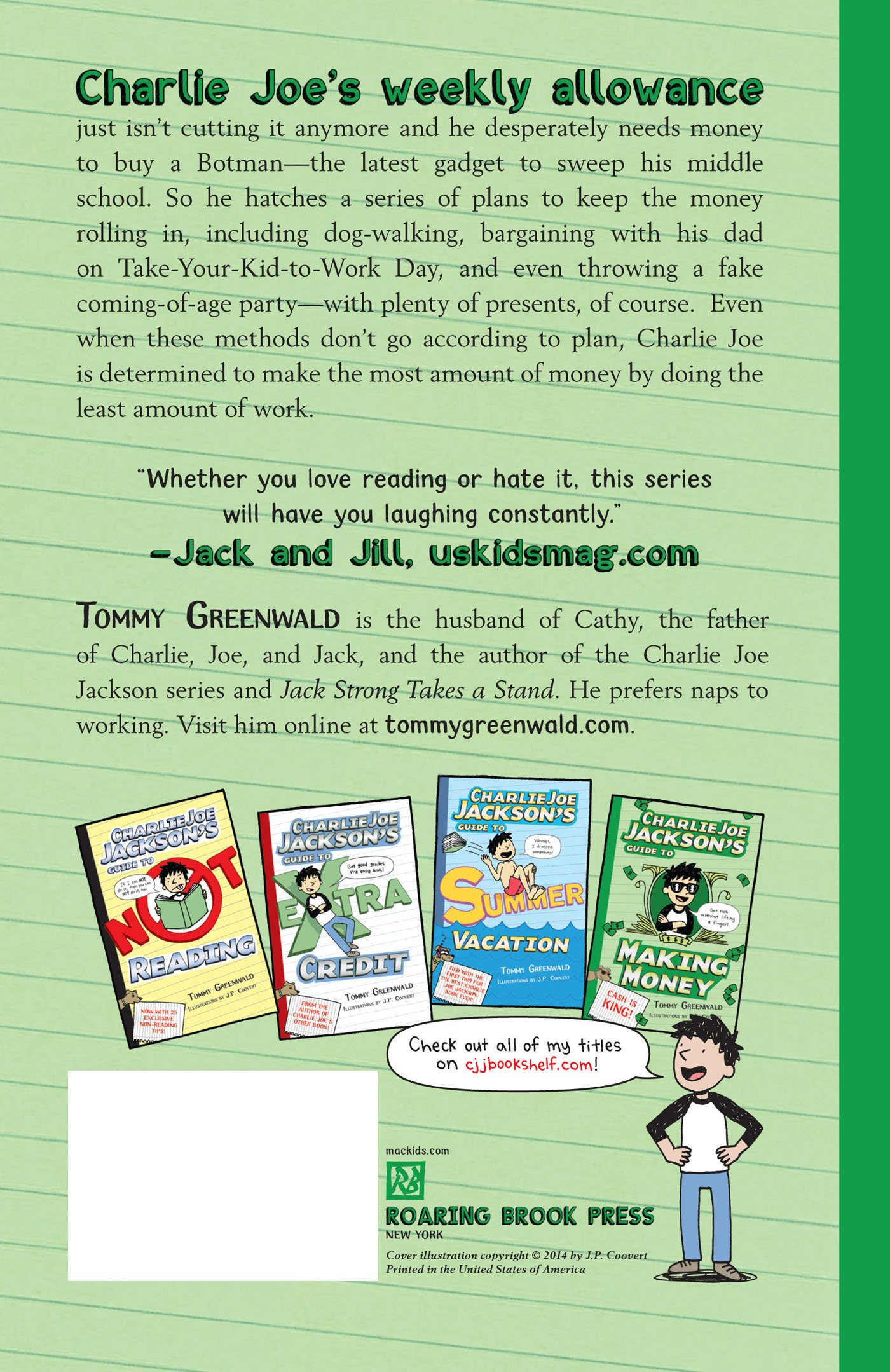 Charlie Joe Jackson's Guide to Making Money (Charlie Joe Jackson Series) by Roaring Brook Press (Image #2)