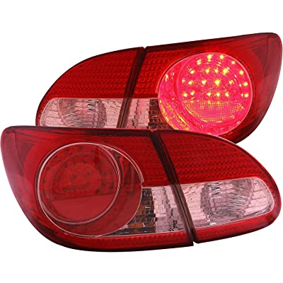 Anzo USA 321190 Toyota Corolla 4 Pcs Red/Clear LED Tail Light Assembly - (Sold in Pairs): Automotive