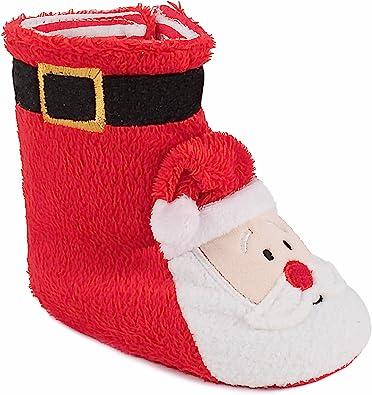 Red Santa Christmas Slipper Boots