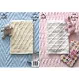 King Cole 3506 Knitting Pattern Baby Blankets To Knit In Comfort DK